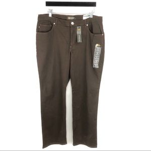 LEE Relaxed Fit Brown Pants Straight Leg Mid Rise